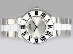 Fake Cool Cartier Pasha Must de med SГёlv Dial AAA Ure [ F2E1 ]