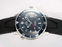 Fake Gorgeous Omega Seamaster Automatic med blГҐ urskive -Rubber