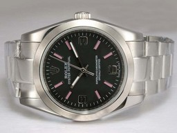 Fake Fancy Rolex Air -King Oyster Perpetual Automatiske med sort