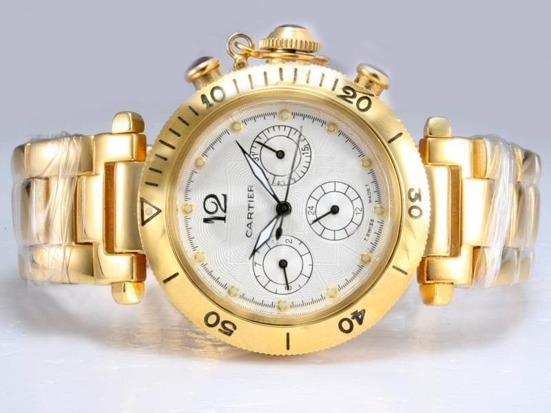Dial Fake With Automatic White Cool cn Chronograph Pasha 00 - Watches com Stores Cartier g2b6 Professional 209 Watchesoutlet Aaa Gold Full Replica