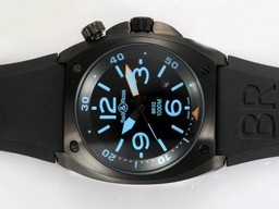 Fake Cool Bell & Ross BR 01-92 Automatic PVD Casing with Blue Marking 46x46mm AAA Watches [T8S6]