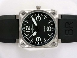 Fake Cool Bell & Ross BR 01-92 Automatic with Black Dial-White Marking AAA Watches [I2L7]