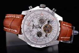 Fake Quintessential Breitling for Bentley Motors Automatic Tourbillon Silver Case AAA Watches [R1G6]