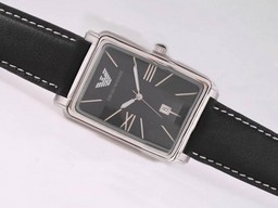 Fake Cool Emporio Armani with Black Dial AAA Watches [T6Q7]