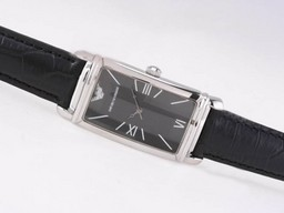 Fake Gorgeous Emporio Armani with Black Dial AAA Watches [V3P3]