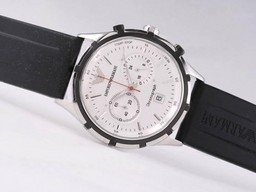 Fake Great Emporio Armani Working Chronograph with White Dial AAA Watches [L3J3]