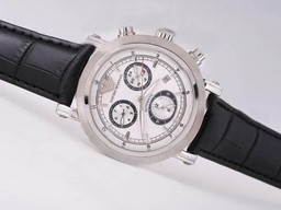 Fake Modern Emporio Armani Chronograph Automatic with White Dial AAA Watches [S3L9]