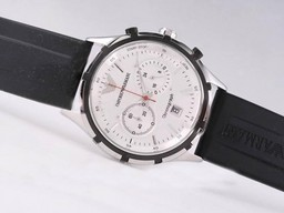 Fake Modern Emporio Armani Working Chronograph with White Dial AAA Watches [X7T1]