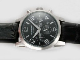 Fake Fancy Montblanc Time Walker Chronograph Automatic with Black Dial AAA Watches [F7E8]