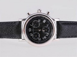 Fake Great Montblanc Star Working Chronograph with Black Dial and Strapl AAA Watches [U7B2]