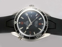 Fake Popular Omega Seamaster Planet Ocean with Rubber Strap AAA Watches [D5J4]