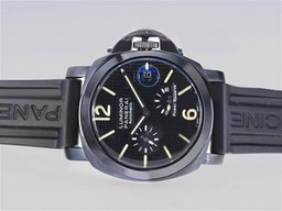 Fake Cool Panerai Luminor Working Power Reserve Automatic PVD Case-Checker AAA Watches [E3Q6]