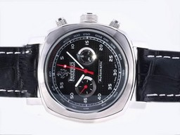 Fake Fancy Panerai Ferrari Chronograph Automatic with Black Dial and Strap AAA Watches [P2R3]