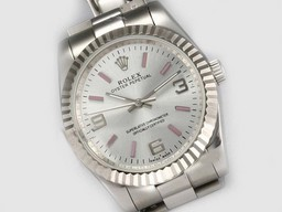 Fake Cool Rolex Air-King Oyster Perpetual Automatic with White Dial-New Version AAA Watches [D2S5]