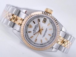 Fake Cool Rolex Datejust Movement Two Tone with MOP Dial AAA Watches [J5P5]