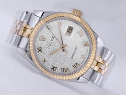 Fake Cool Rolex Datejust Movement Two Tone with Computer Dial AAA Watches [W2B1]