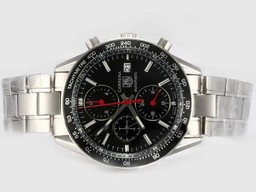 Fake Perfect Tag Heuer Carrera Chronograph Automatic with Black Dial and Bezel AAA Watches [K3J2]