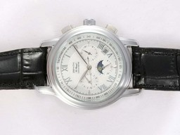 Fake Fancy Zenith Port Royal Chronograph Automatic Moonphase with White Dial AAA Watches [K8D9]