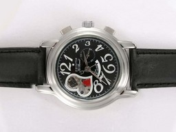 Fake Quintessential Zenith Star Open Queen Of Hearts Automatic with Black Dial Lady Size AAA Watches [A5D2]
