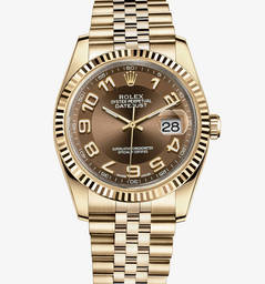 Replica Rolex Datejust Watch: 18 quilates de ouro amarelo - M116238-0076
