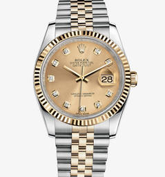 Replica Rolex Datejust Watch : Gul Rolesor - kombination af 904L