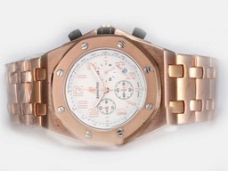 Fake Gorgeous Audemars Piguet Royal Oak Offshore Working Chronograph Full Rose AAA Watches [L4D5]