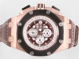 Fake Great Audemars Piguet Ruben Baracello Working Chrono Rose Gold AAA Watches [O5R7]