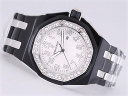 Fake Modern Audemars Piguet Royal Oak 30th Anniversary Black Ceramic Diamond AAA Watches [G6S6]