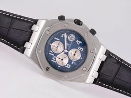 Fake Modern Audemars Piguet Royal Oak Offshore Working Chronograph with Blue Dial AAA Watches [B5N8]