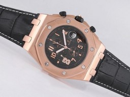 Falso Perfeito Audemars Piguet Royal Oak Offshore Chronograph Trabalho ouro rosa caso AAA Relógios [ F3M8 ]