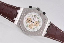 Fake Perfect Audemars Piguet Royal Oak Offshore Working Chronograph with White Dial AAA Watches [R6W4]