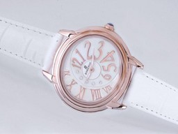 Fake Quintessential Audemars Piguet Millenary Rose Gold Case with White Dial-Lady Size AAA Watches [R8J8]