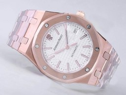Fake Komne Audemars Piguet Royal Oak Jumbo Full Rose AAA Klokker [ P6D8 ]