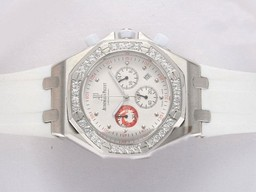 Fake Quintessential Audemars Piguet Royal Oak Working Chronograph Diamond Bezel AAA Watches [K8C8]
