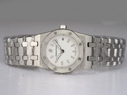 Fake Vintage Audemars Piguet Royal Oak with White Dial Lady Size AAA Watches [K1H5]