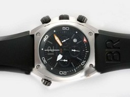 Fake Cool Bell & Ross BR 02-94 Working Chronograph with Black Dial and Rubber Strap AAA Watches [G3G5]