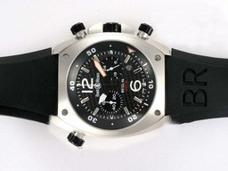 Fake Cool Bell & Ross BR 02-94 Working Chronograph with Black Carbon Fibre Style AAA Watches [C3F7]