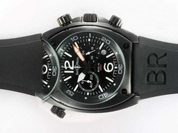 Fake Cool Bell & Ross BR 02-94 Working Chronograph PVD Casing with Black Dial AAA Watches [D5E3]