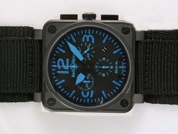 Fake Cool Bell & Ross BR 03-94 Chronograph PVD Casing AAA Watches [D7E3]