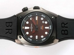 Fake Cool Bell & Ross BR02 Instrument Diver PVD Casing with Brown Carbon Fibre AAA Watches [B7W6]