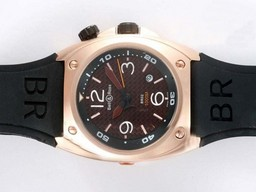 Fake Cool Bell & Ross BR02 Instrument Diver Automatic Rose Glod Case AAA Watches [O7F2]