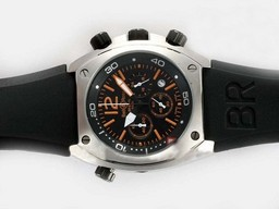 Fake Upea Bell & amp; Ross BR 02-94 Työ Chronograph Oranssi Merk
