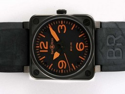Fake Bell & amp moderna ; amp ; Ross BR 01-92 2892 Movimiento PVD Caso Con Negro Dial Relojes AAA [ P7N8 ]