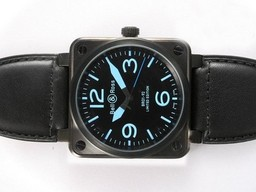 Fake Perfect Bell & Ross BR 01-92 Automatic PVD Casing with Blue Marking 46x4 AAA Watches [M2O2]