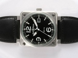 Fake Quintessential Bell & Ross BR 01-96 Big Date Automatic with Black Dial 46x46mm AAA Watches [S8X3]