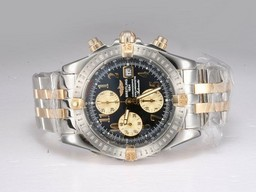 Fake Cool Breitling Chronomat Evolution Chronograph Two Tone AAA Watches [M9D1]