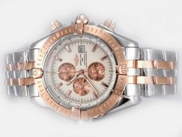 Fake Cool Breitling Chronomat Evolution Working Chronograph Two Tone AAA Watches [I9T8]