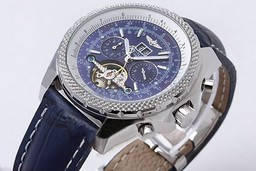 Fake Cool Breitling for Bentley Tourbillon Chronograph Automatic with Blue Dial AAA Watches [F4N8]