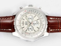 Fake Gorgeous Breitling Bentley 6.75 Big Date Chronograph Automatic with White Dial AAA Watches [D4U8]