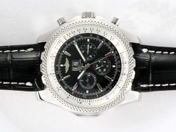 Fake Great Breitling Bentley 6.75 Big Date Chronograph Automatic with Black Dial AAA Watches [D3H4]